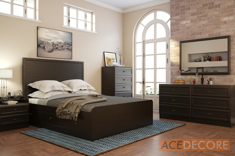 Bedroom Collection. GEORGIA Dark Oak   Bedroom furniture from Ace Decore
